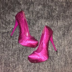 Sparkly Charlotte Russe Heels Size 10